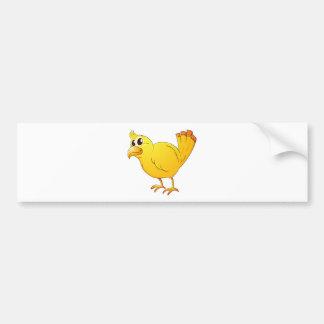 Yellow bird car bumper sticker