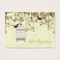 yellow bird cage, love birds Gift registry  Cards
