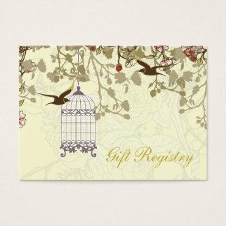yellow bird cage, love birds Gift registry  Cards