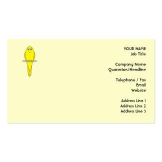 Yellow Bird. Canary. Business Card