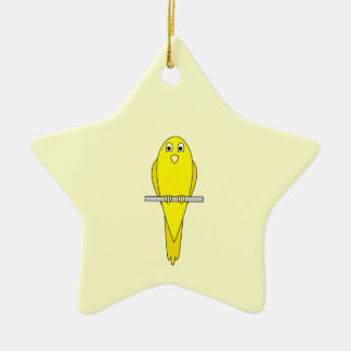 Yellow Bird. Canary. Ceramic Ornament