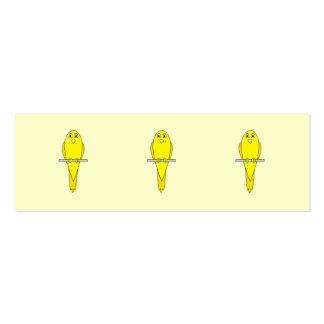 Yellow Bird. Canary. Mini Business Card