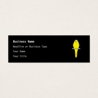 Yellow Bird. Canary. On Black. Mini Business Card