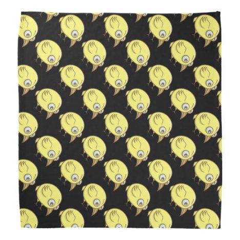 Yellow bird cartoon bandana