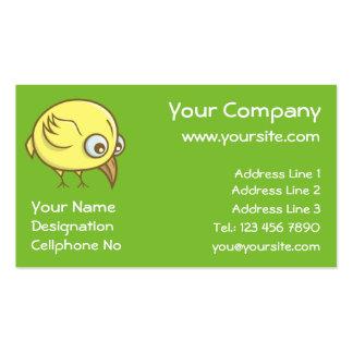 Yellow bird cartoon business card