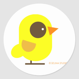 Yellow Bird Classic Round Sticker