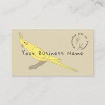 Yellow Bird Cockatiel Business Card v
