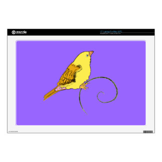Yellow Bird Decals For Laptops