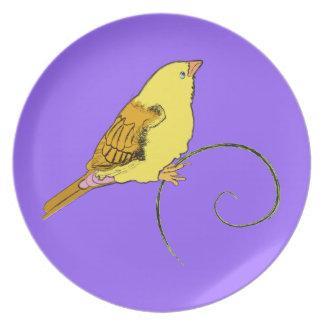 Yellow Bird Dinner Plates