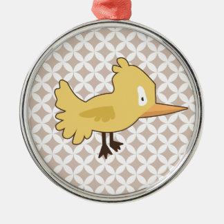 Yellow Bird Metal Ornament