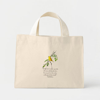 Yellow Bird Of Spring Blessing Mini Tote Bag