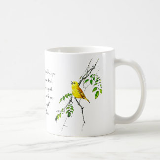 Yellow Bird Of Spring Blessings Coffee Mug