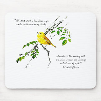 Yellow Bird Of Spring Blessings Mouse Pad