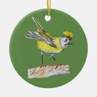 Yellow Bird Ornament