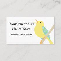 Yellow Bird Patchwork Business Card v