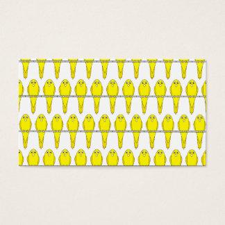 Yellow Bird Pattern. Canaries. Business Card
