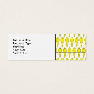 Yellow Bird Pattern. Canaries. Mini Business Card
