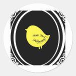 Yellow Bird Photography Round Sticker