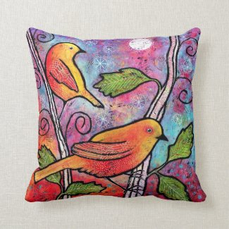 Yellow Bird Pillow