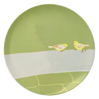 yellow bird Plate