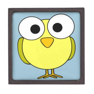Yellow Bird with Big Eyes Jewelry Box