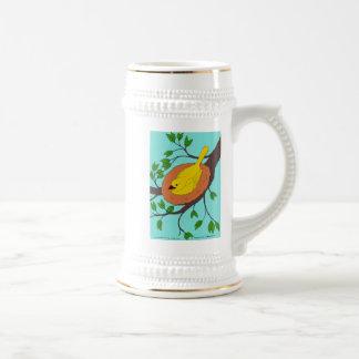 Yellow Bird's Nest Beer Stein