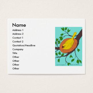 Yellow Bird's Nest Business Card