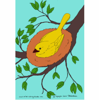 Yellow Bird's Nest Statuette