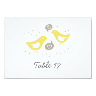 yellow birds talking about love table number