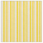 [ Thumbnail: Yellow & Bisque Stripes Fabric ]