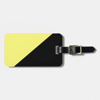 Yellow & Black Anarcho Capitalism Flag Bag Tag
