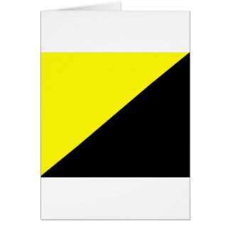 Yellow & Black Anarcho Capitalism Flag Greeting Card