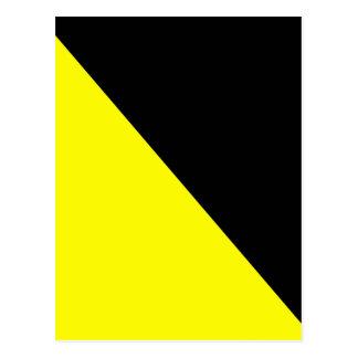 Yellow & Black Anarcho Capitalism Flag Postcard