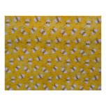 Yellow, Black and White Bees Scrapbooking Paper Letterhead