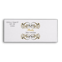 yellow black and white Chic Business envelopes