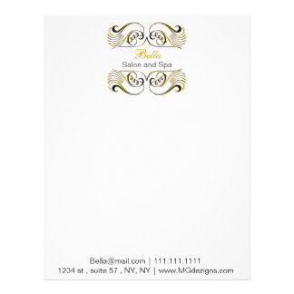 yellow black and white Chic Business letterheads Letterhead