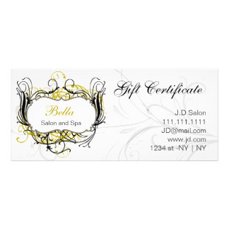 yellow,black and white Chic Gift Certificates