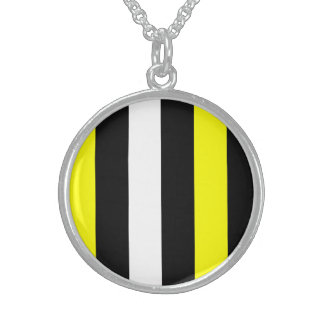 Yellow Black And White Stripes Necklaces