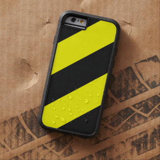 Yellow Black Attention Warning Stripes Tough Xtreme iPhone 6 Case