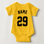 Yellow & Black Baby | Sports Jersey Design Baby Bodysuit