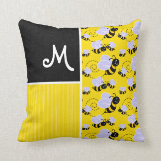 Yellow Black Bee Pillows - Decorative & Throw Pillows Zazzle