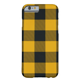 reputable site 79ddb 227bf Yellow & Black Buffalo Plaid Checkered Rustic Barely There iPhone 6 Case