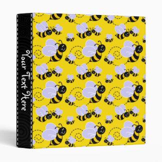 Yellow & Black Bumble Bee Binder