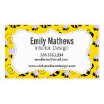 Yellow & Black Bumble Bee Business Card Templates