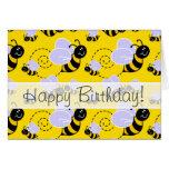 Yellow & Black Bumble Bee Card