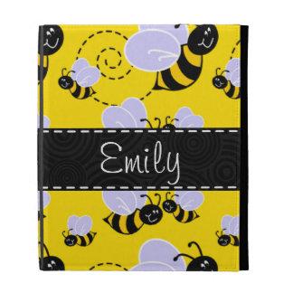Yellow & Black Bumble Bee iPad Folio Case