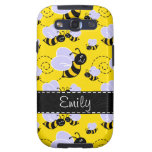 Yellow & Black Bumble Bee Galaxy S3 Covers