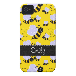 Yellow & Black Bumble Bee iPhone 4 Cover
