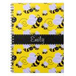 Yellow & Black Bumble Bee Note Book