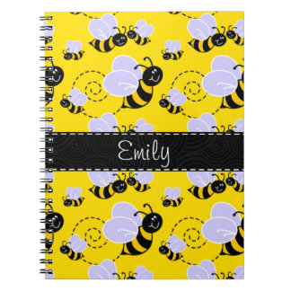 Yellow & Black Bumble Bee Notebook